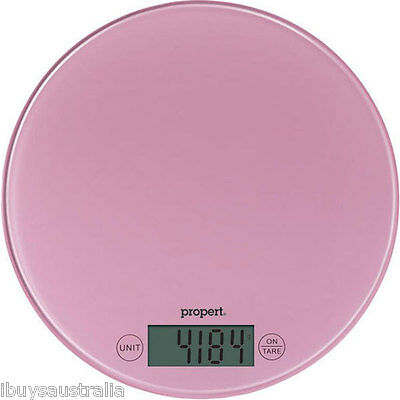Propert 5kg Capacity / 1g Increment Digital Kitchen Food Scales in Pink #1347