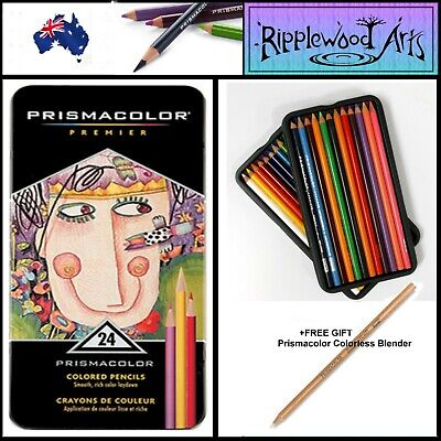 Prismacolor Premier Colored Pencils - Artists Quality - Tin of 24 Pencils