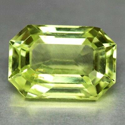 2.34Cts Gorgeous Emerald Cut Natural Neon Green Chrysoberyl Watch Video