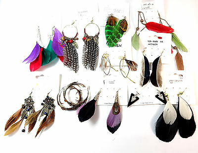 Wholesale Job Lot  1000 + Assorted Unique Earrings One Of A Kind Samples New