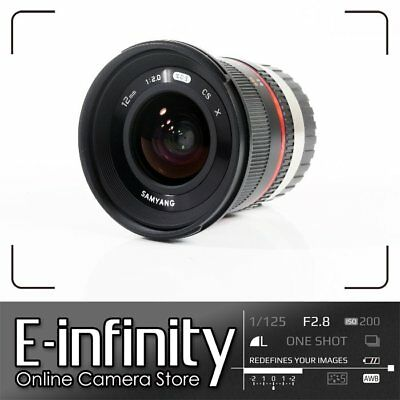 NUEVO Samyang 12mm f/2.0 NCS CS Lens f/2 F2 for Fujifilm X Mount (Black)