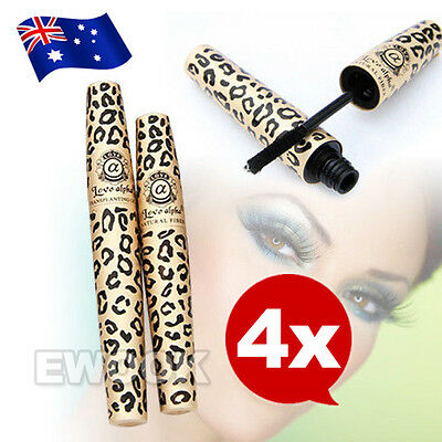 4X OZ Fibre Natural Mascara Transplanting Gel Brush False Eyelashes LOVE ALPHA