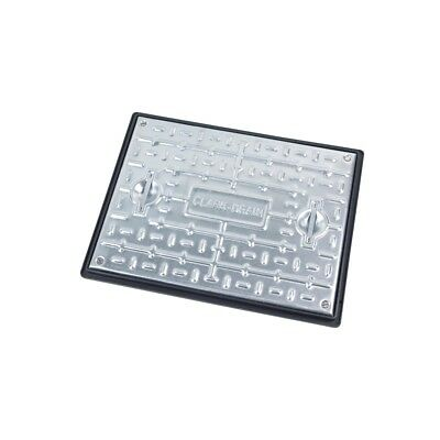 Clark Drain Galvanised Steel 10 Tonne Manhole Cover and Frame PC6CG 600x450x30mm