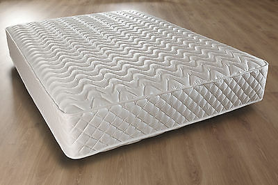 """LUXURY 2ft6 3ft Single 4ft 4ft6 Double & 5ft King Deep Quilted Mattress 10"""""""