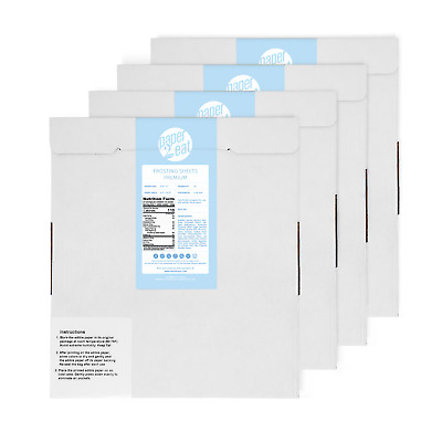 4 Packs (96 Sheets) Of Frosting Sheets / Icing Sheets / Edible Paper Topper
