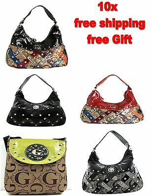 Wholesale Lot of 10 Designer Inspired Fashion Purses Women Handbags Multi-color