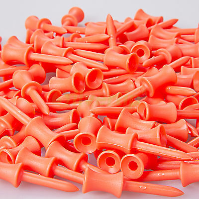 New 100pcs Plastic Step Down Golf Tees Graduated Castle Tee Height Control 48mm