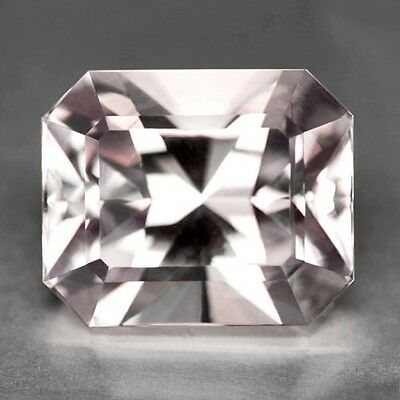 16.35Cts Exceptional Emerald Radiant Cut Untreated Mild Pink Morganite See Video