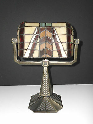 Stained Glass Lamp Mosaic Non-Electric Uses 2 Tea Light Candles