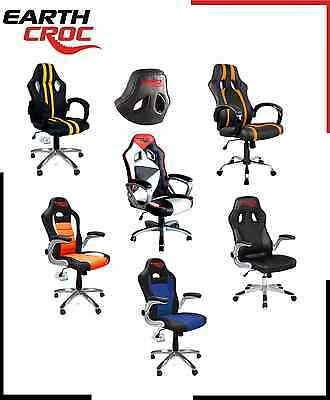 Earthcroc Luxury Racing Gaming Designer Office Chair Desk Chair Function Seat Pu