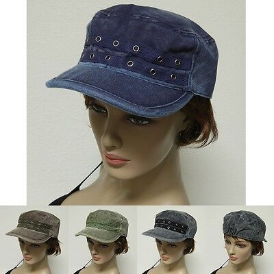 Fashion French Round Bill Cadet Military Stretch Caps Hats One Size Fit New