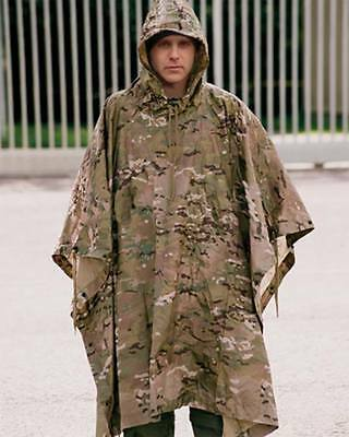 Poncho Ripstop Multitarn -colores Multicam Impermeable camuflaje caza airsoft