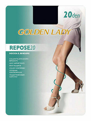 "Golden Lady ""repose 20"" Set 10 Collant Riposanti Velati Colore Visone"