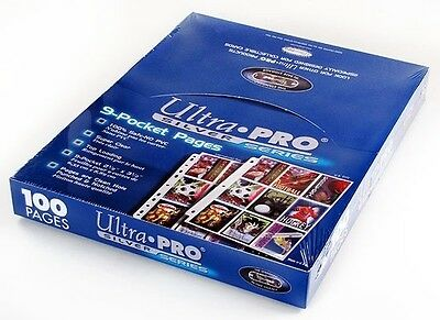 ULTRA PRO 9-Pocket x100 SILVER Pages SEALED BOX x1