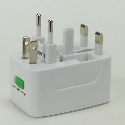 US To UA Europe and Universal AC Power Plug World Travel Adapter Converter 3 mod