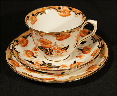 C.1927 ROYAL ALBERT CROWN CHINA TRIO IMARI COLOURS PATTERN 5470 VG CONDITION s35