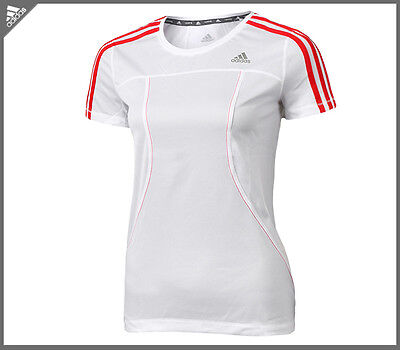 Adidas Short Sleeved  Womens Ladies Running Fitness  Gym Tee Shirt Top Xs 6 8