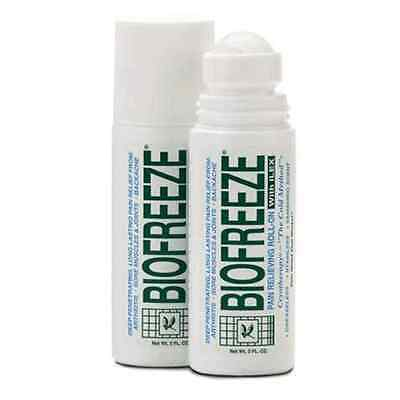 NEW BIOFREEZE PAIN RELIEVING GEL 3oz  ROLL ON (FREE SHIPPING) BIO FREEZE