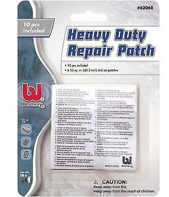 10 Heavy Duty Vinyl PVC Puncture Repair Patch Inflatable Toy Swimming Pool Lilo