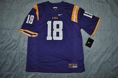 Nike LSU Tigers  18 Football Jersey Purple Youth Kids Sizes Screen Print  NWT 🐯 93f9d9305