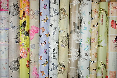 Butterfly Tablecloth Wipe Clean Oilcloth Vinyl PVC All Designs 140 x 200cm