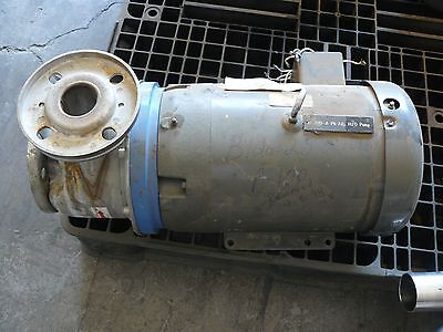 GOULDS PUMPS MODEL SST SIZE 2X21/2X6 CENTRIFUGAL PUMP 6STK2 STAINLESS STEEL