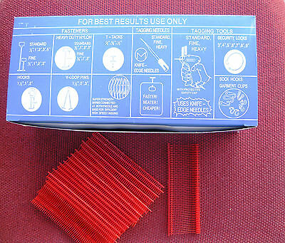 "5000  1"" Inch Regular  Red  Price Tag Tagging  Barbs Fasteners"