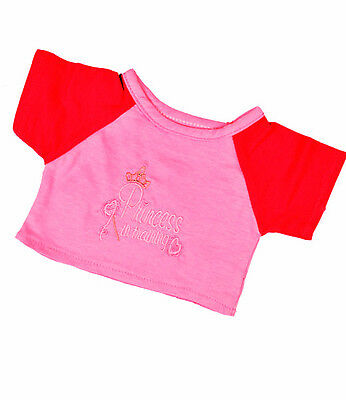 """Princess in Training T-Shirt 16"""" (40cm) by Teddy Mountain will fit Build a Bear"""