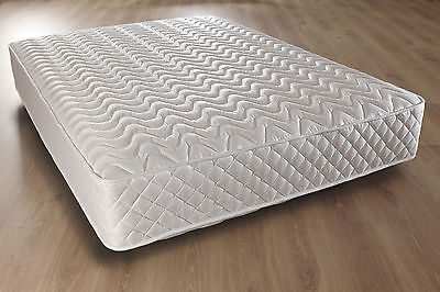 """LUXURY 4ft6 Double Deep Quilted Mattress 10"""" Hypo Allergenic"""