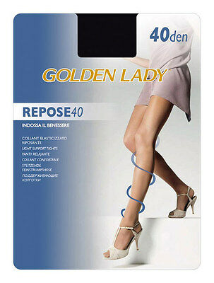 "Golden Lady ""repose 40"" Set 10 Collant Riposanti Velati Colore Castoro"