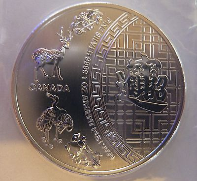 2014 Canadian Five Blessings 1 oz Troy Ounce .9999 Silver Bullion Coin