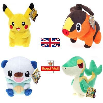 Anime Pokemon Soft Plush Toy Doll 30cm - Pikachu Oshawott Tepig Snivy Official