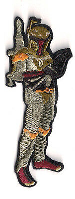 """Vintage Star Wars Boba Fett Die-Cut Animated  4"""" Patch-USA Mailed (SWPA-CD-72)"""