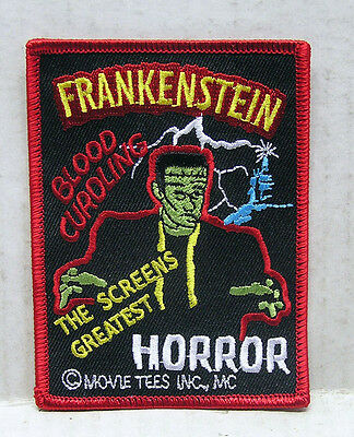 """FRANKENSTEIN Classic Horror Poster Logo 3"""" Embroidered Patch (UMPA-001)"""