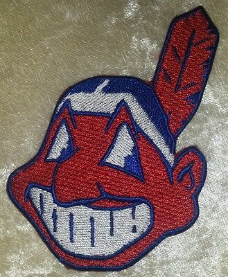 "Cleveland Indians  3.5"" Chief Wahoo Iron On Embroidered Patch ~FREE SHIP!!~"