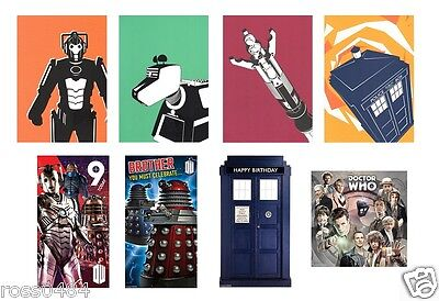 DOCTOR WHO Card Selection OFFICIAL Birthday, Christmas and Blank Gift Dr