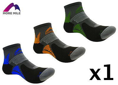 More Mile Mens Womens Ladies Moscow Ankle Running Trail Sports Cushioned Socks 1