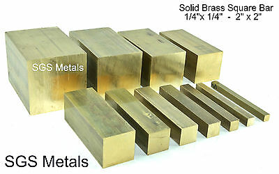 Solid Brass Square Bar 150mm Lengths Lathe Milling Machine Boxford Myford Lathe