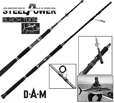 DAM Steelpower Black Tuna - Seafishing rod, 8.00 ft, 40-60lb, 2 parts