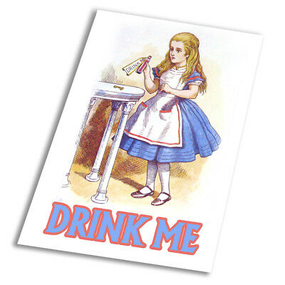 Alice In Wonderland Drink Me - Vintage Art Print Poster - A1 A2 A3 A4 A5