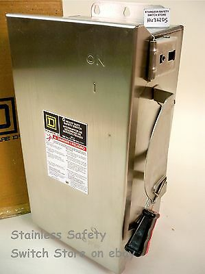 Square D Stainless HU362DS 60a 600v Non-Fused Safety Switch  46 Available NEW