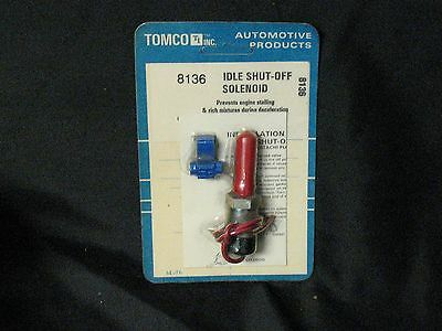 IDLE SHUT OFF Solenoid TOMCO 8143 For Toyota 1166cc 1588cc 1968c 4