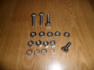 Vespa P Px T5 Stainless Steel 18% Chrome Front Mudguard Fixing Kit Bolts