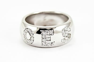 OES Sterling Silver Ring, set with CZs Order of the Eastern Star