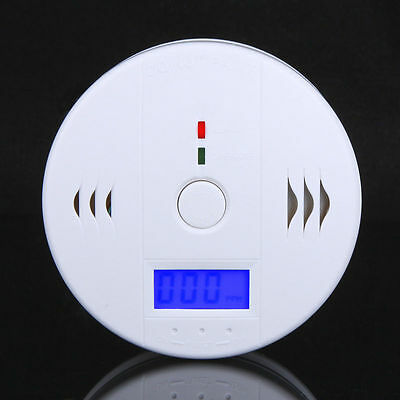 CO Carbon Monoxide Poisoning Gas Sensor Monitor Alarm LCD Detector Home Security
