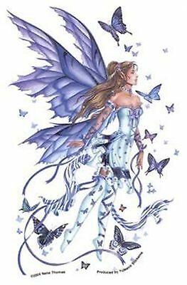 "Lavender Serenade Fairy Sticker Surrounded by Fluttering Butterflies 4.5""x7"""
