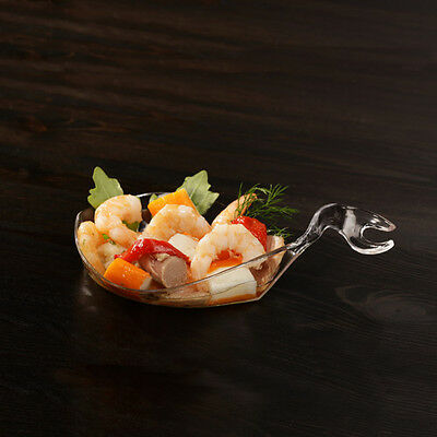 "10 Fingerfood Teller ""Poseidon"" 80 ml 15x9,1x3,5cm glasklar Catering (FI001)"