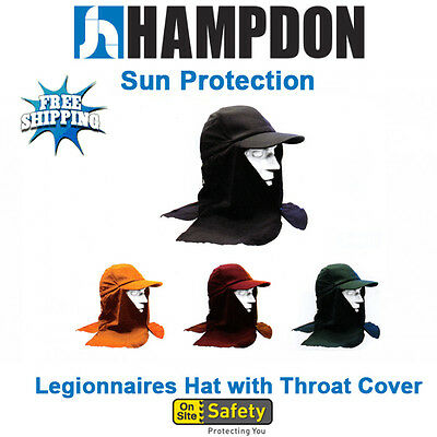 Legionnaire Hat with Throat Cover – 7 Colours – Sun Flap Hat – UV Protection