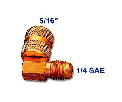 AC Air Conditioner Freon R410A M*1/4SAE F*5/16SAE Quick Coupler Adapter