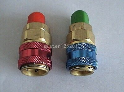 AC Air Conditioner Freon R134A Auto Car System Quick Coupler Adapter